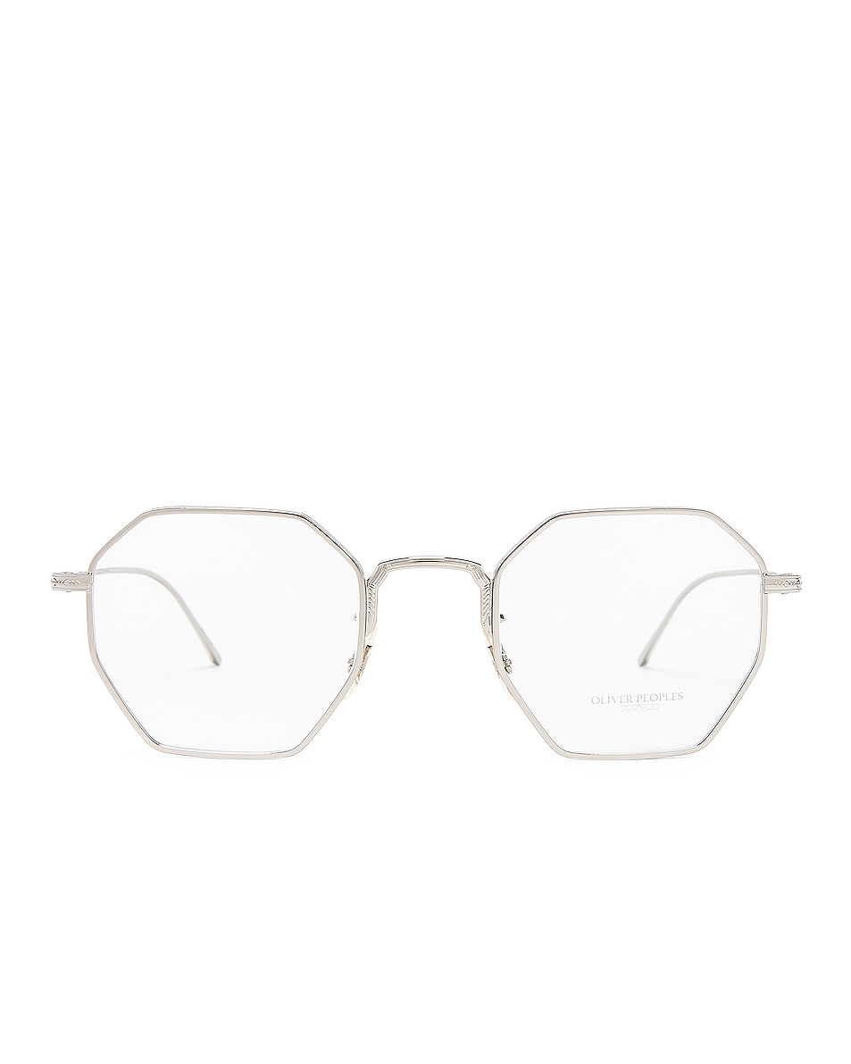 Image 4 of Oliver Peoples Assouline in Silver w/ Mustard