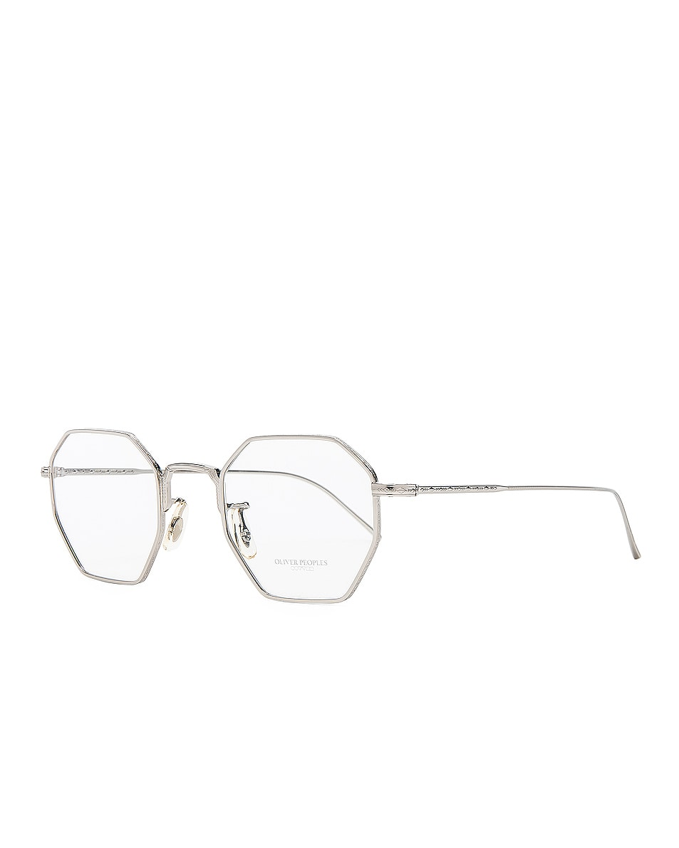 Image 5 of Oliver Peoples Assouline in Silver w/ Mustard