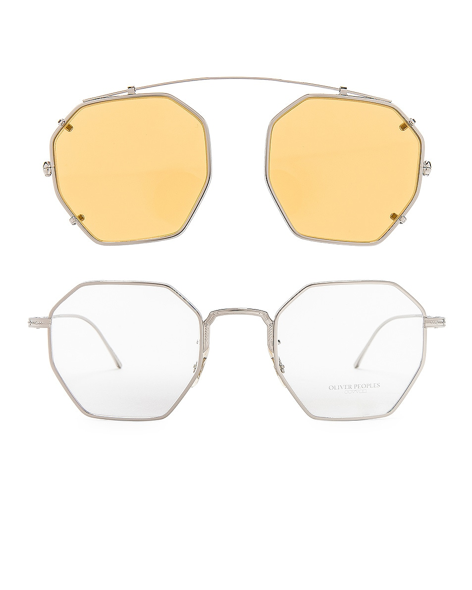 Image 7 of Oliver Peoples Assouline in Silver w/ Mustard