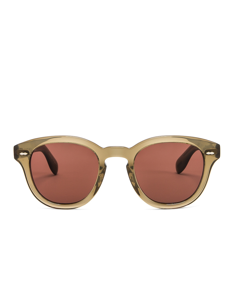 Image 1 of Oliver Peoples Cary Grant Sunglasses in Dusty Olive & Rosewood