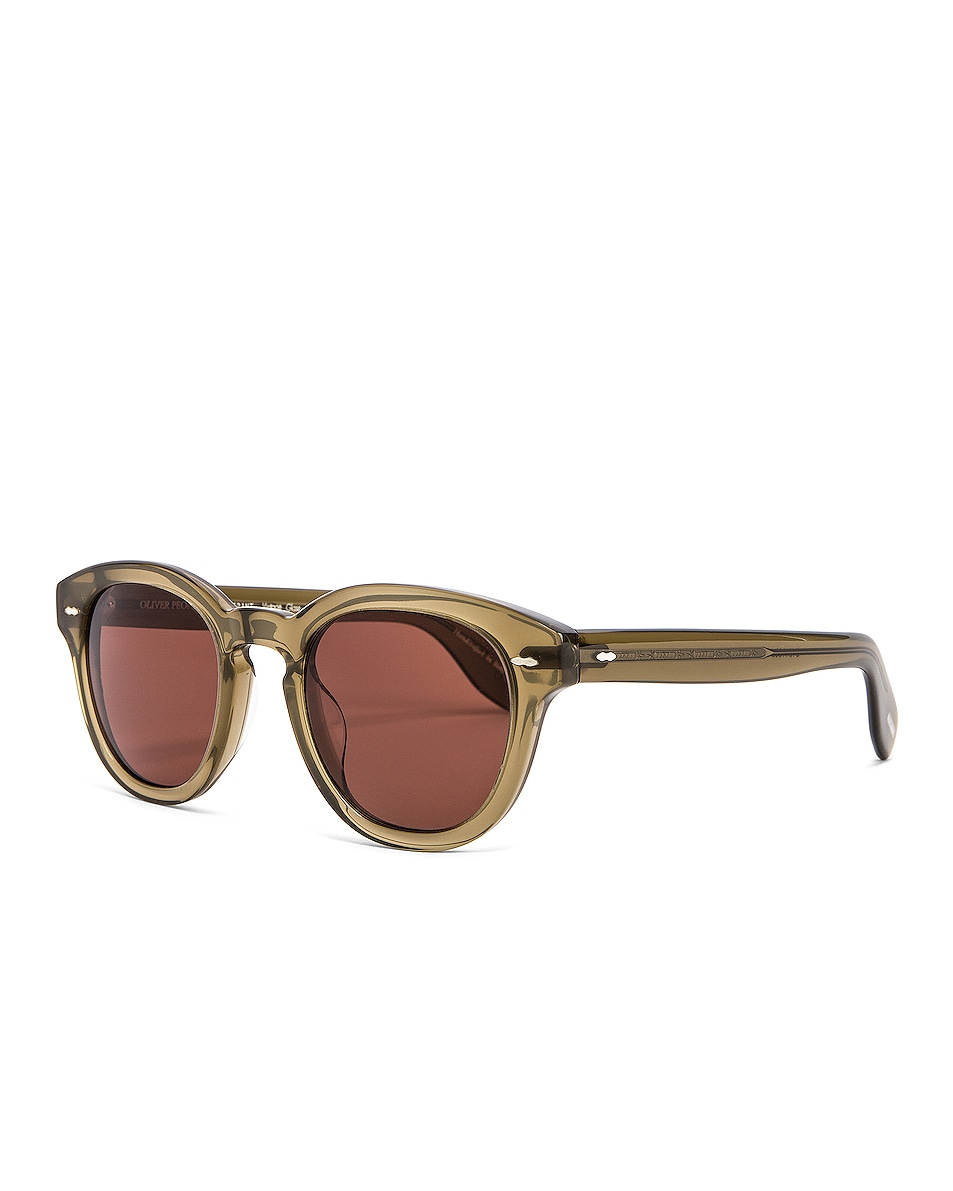 Image 2 of Oliver Peoples Cary Grant Sunglasses in Dusty Olive & Rosewood