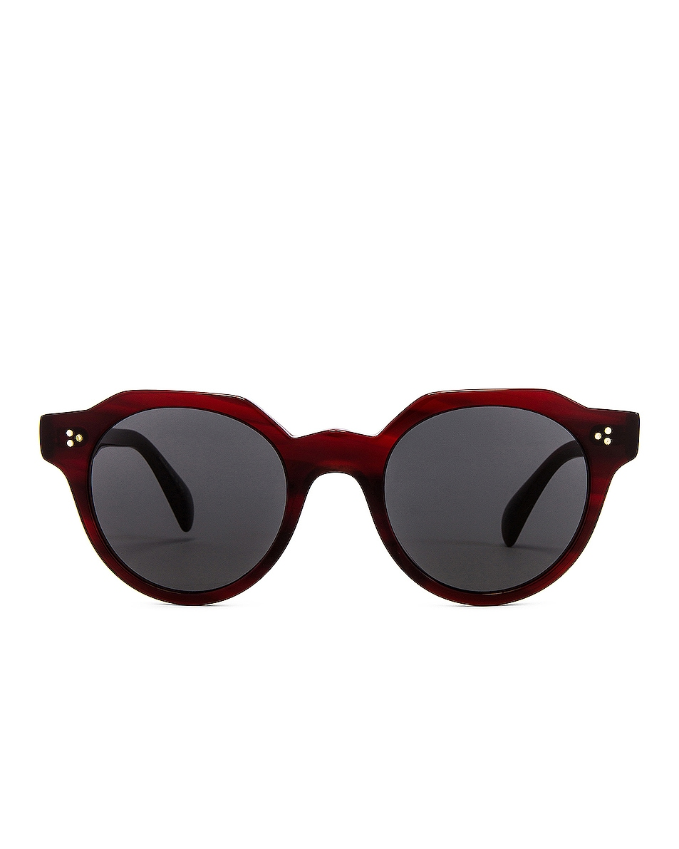 Image 1 of Oliver Peoples Irven Sunglasses in Bordeaux Bark & Grey