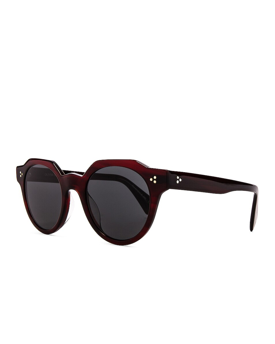 Image 2 of Oliver Peoples Irven Sunglasses in Bordeaux Bark & Grey
