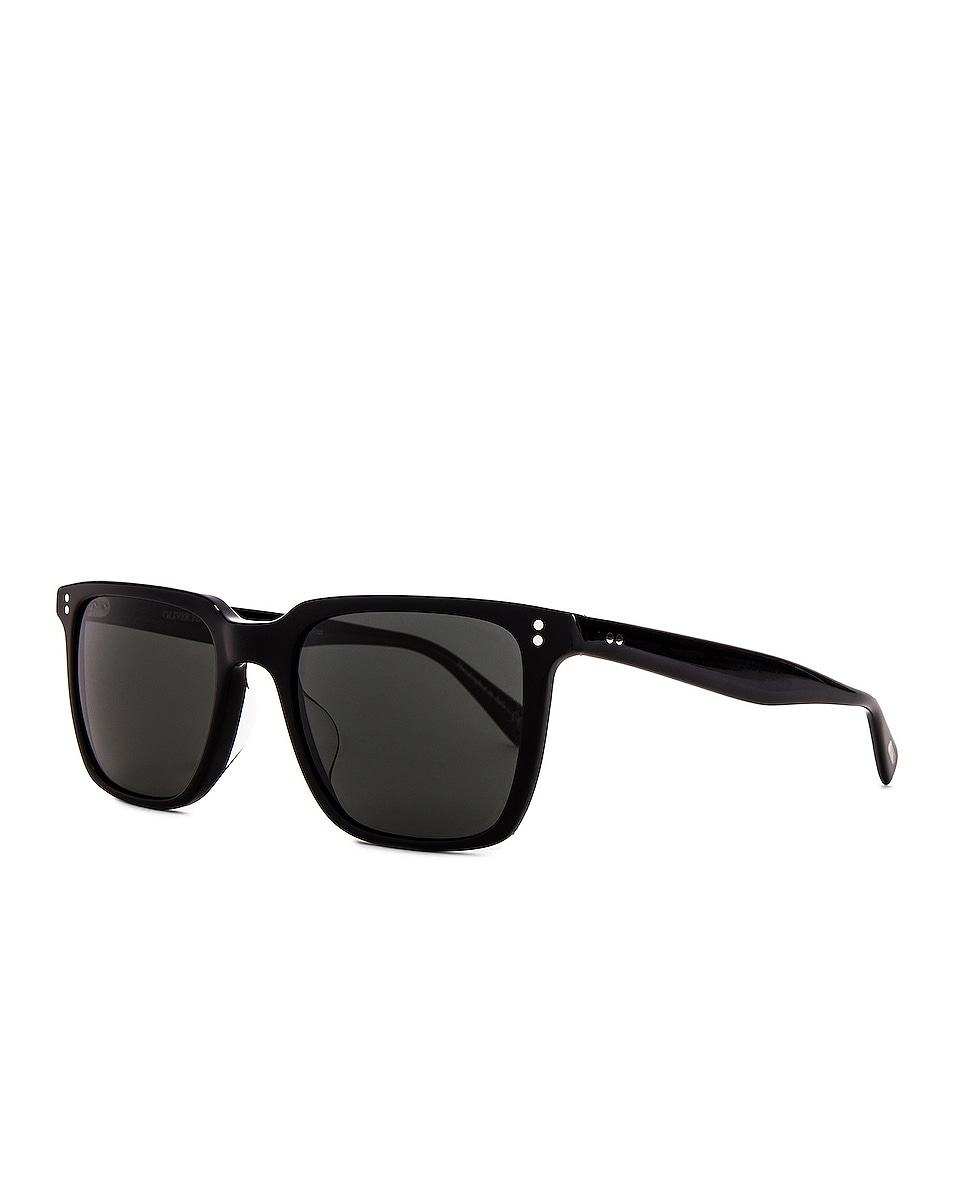 Image 2 of Oliver Peoples Lachman Sun in Black & Midnight