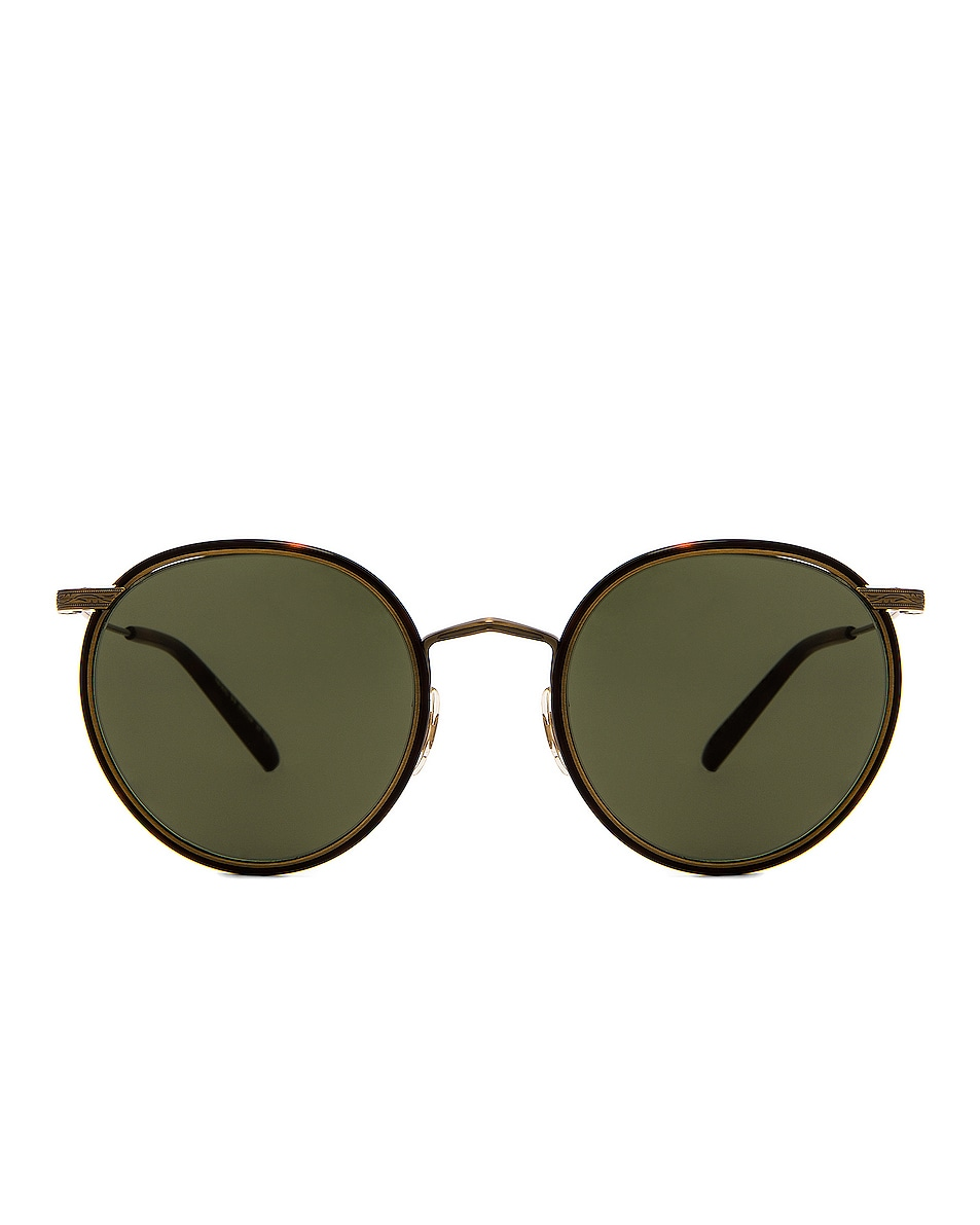 Image 1 of Oliver Peoples Casson Sunglasses in Antique Gold & Dark Mahogany