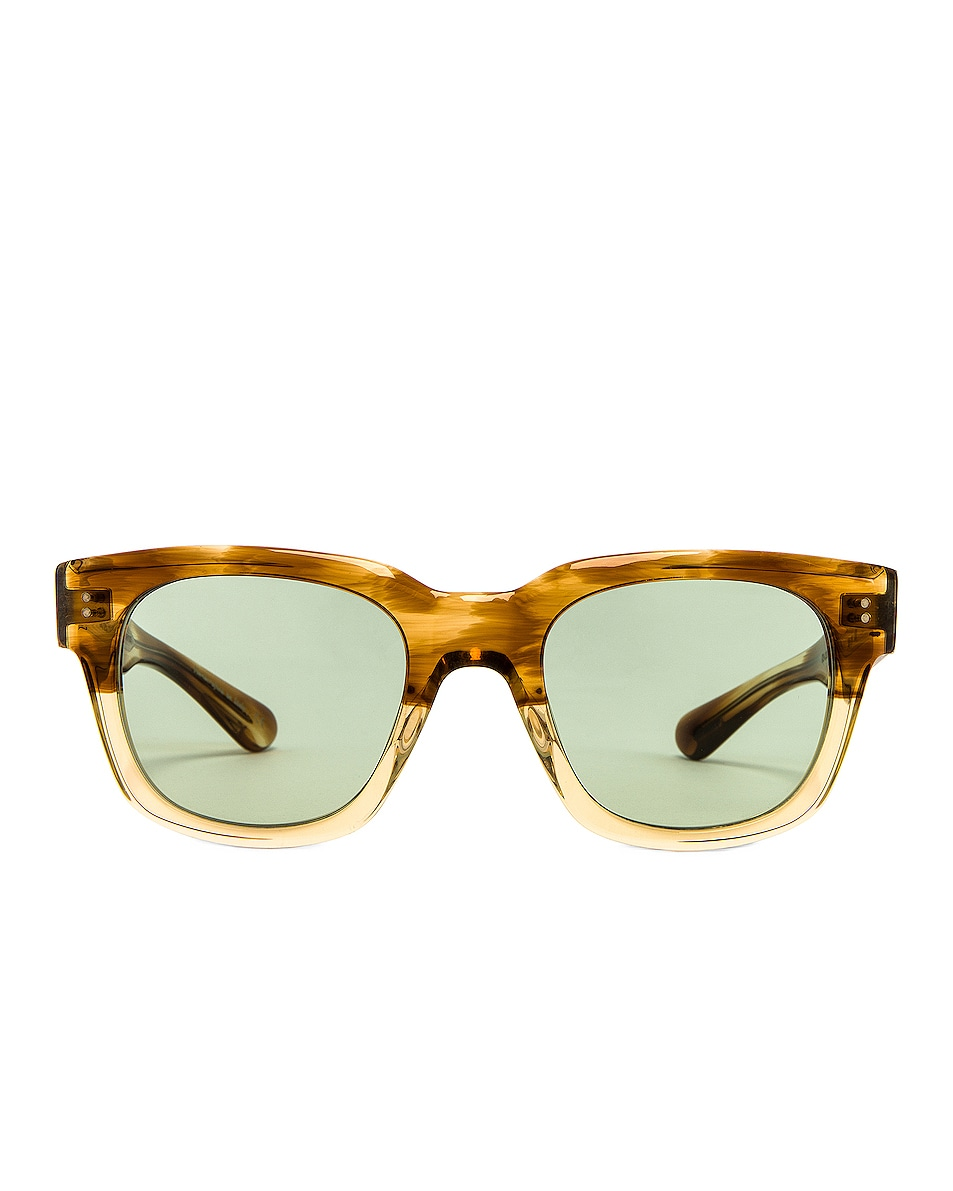 Image 1 of Oliver Peoples Shiller Sunglasses in Honey & Green Wash
