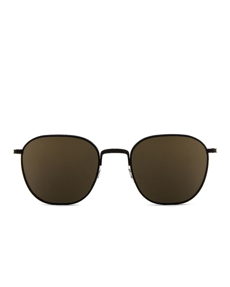 Image 1 of Oliver Peoples x The Row Board Meeting 2 Sunglasses in Matte Black & Dark Grey Mirror Gold