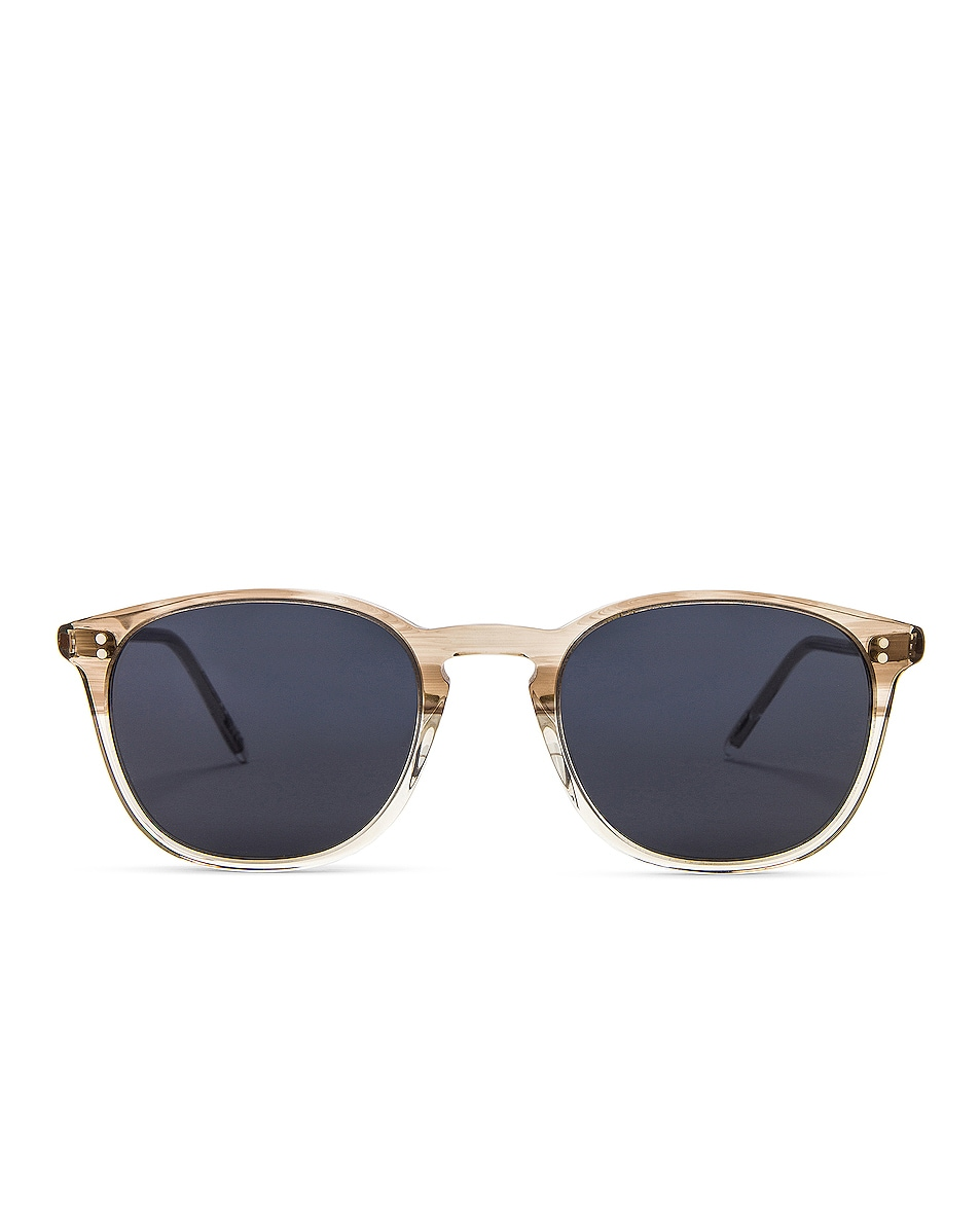 Image 1 of Oliver Peoples Finley Vintage Sunglasses in Military & Washed Blue
