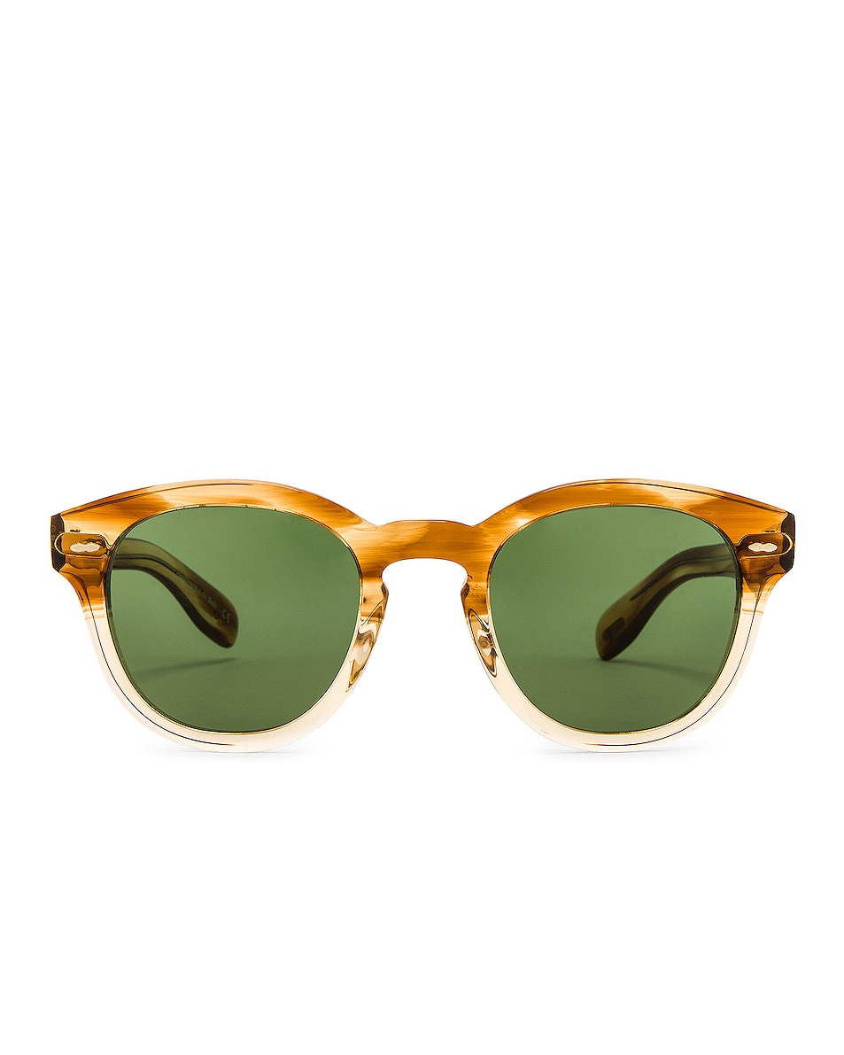 Image 1 of Oliver Peoples Cary Grant Sunglasses in Honey & Green Wash