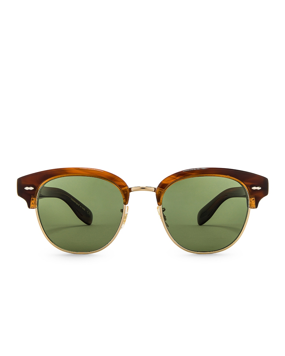 Image 1 of Oliver Peoples Cary Grant 2 Sunglasses in Tortoise & Jade