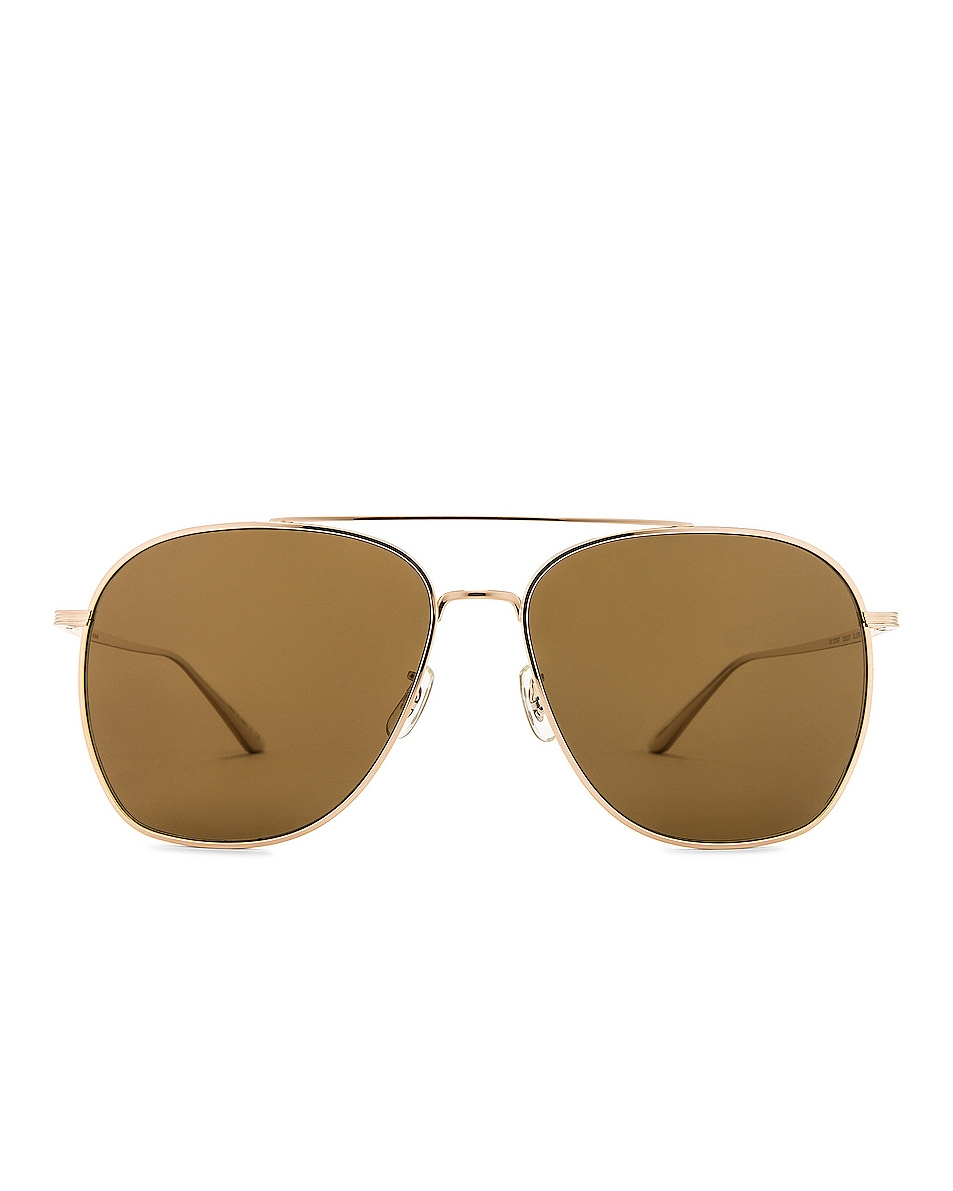 Image 1 of Oliver Peoples x The Row Ellerston Sunglasses in Gold & True Brown Polar