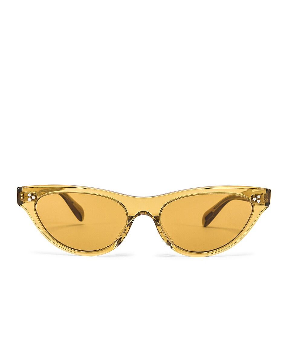 Image 1 of Oliver Peoples Zasia Sunglasses in Dark Honey & Amaretto Gradient