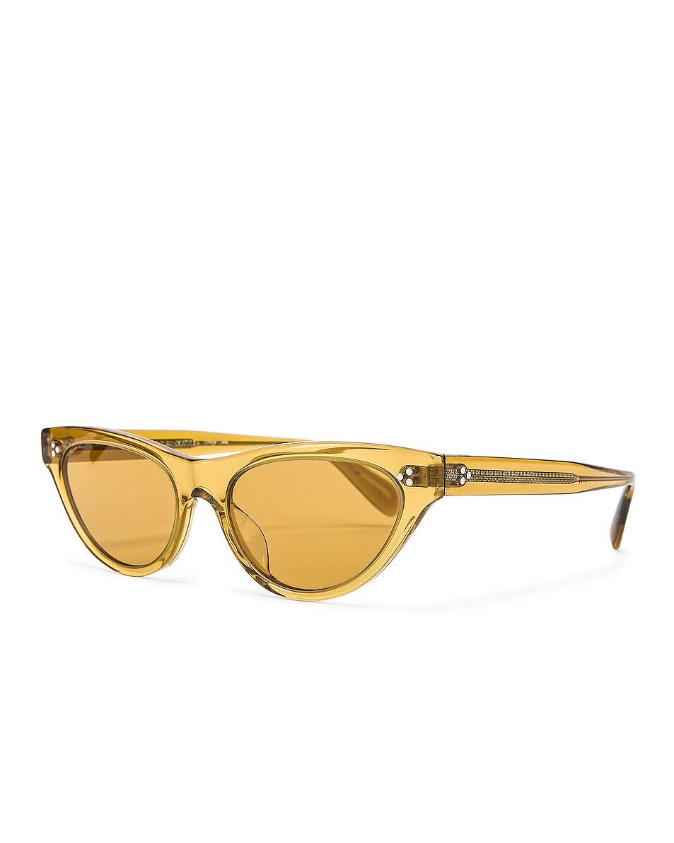 Image 2 of Oliver Peoples Zasia Sunglasses in Dark Honey & Amaretto Gradient