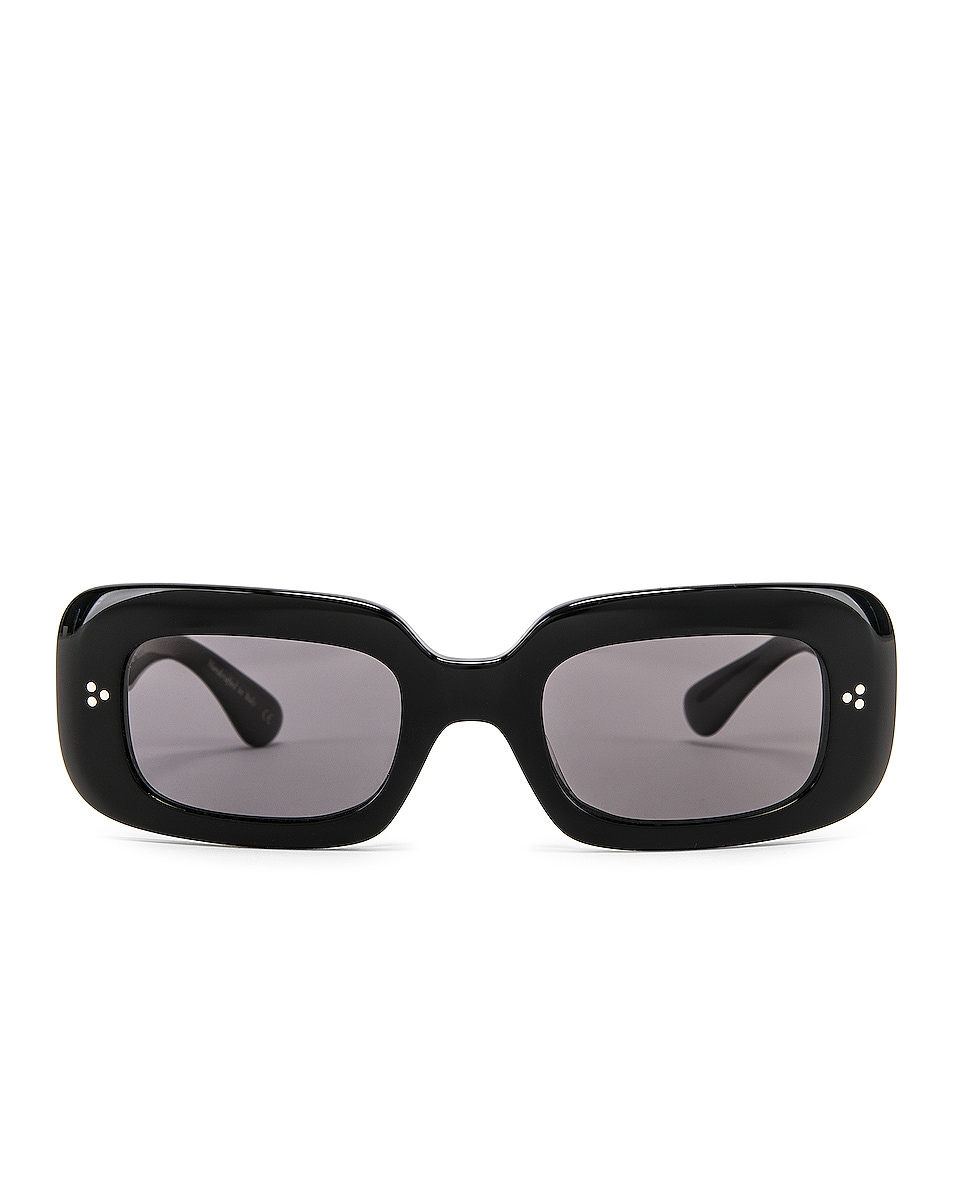 Image 1 of Oliver Peoples Saurine Sunglasses in Black & Grey
