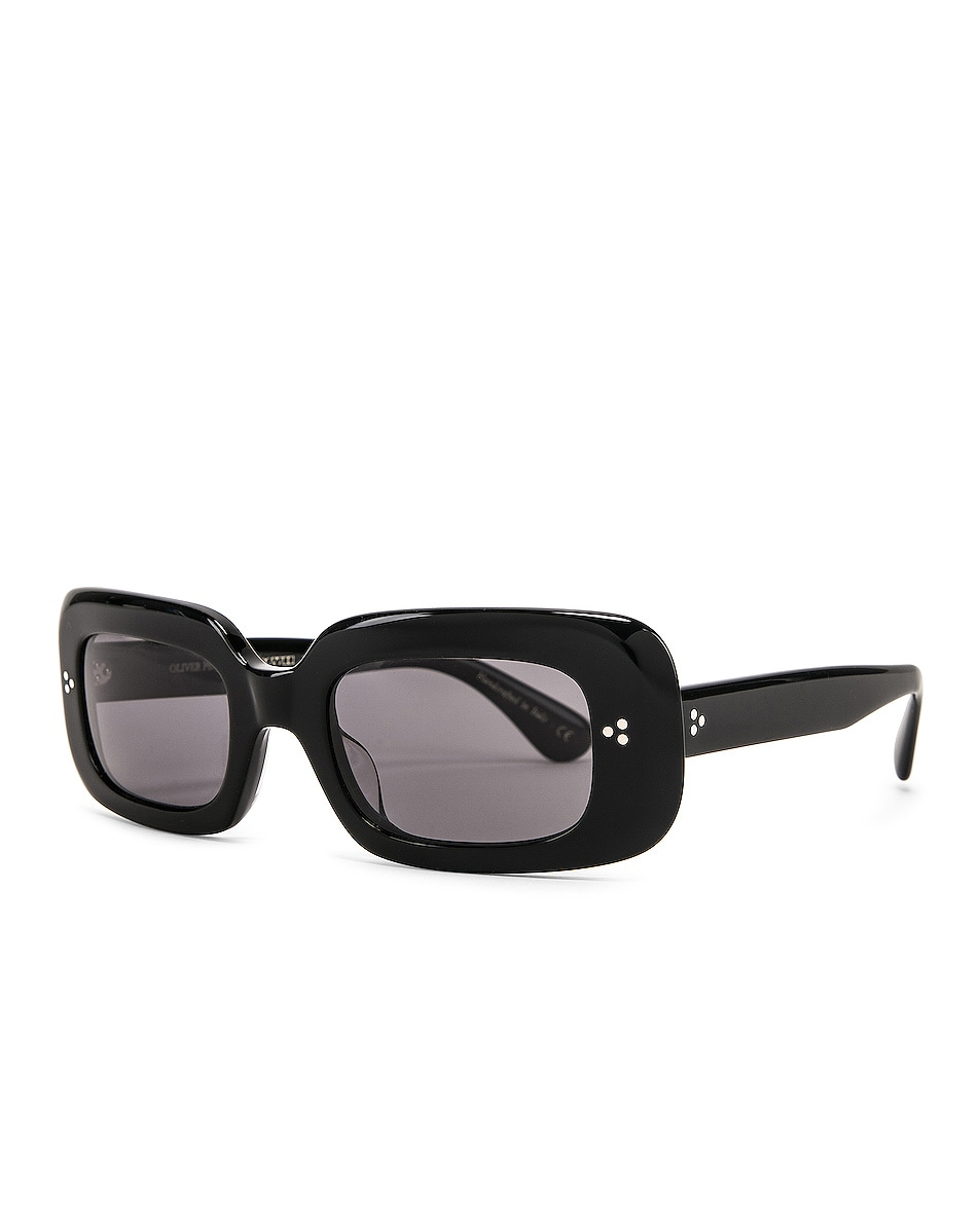 Image 2 of Oliver Peoples Saurine Sunglasses in Black & Grey