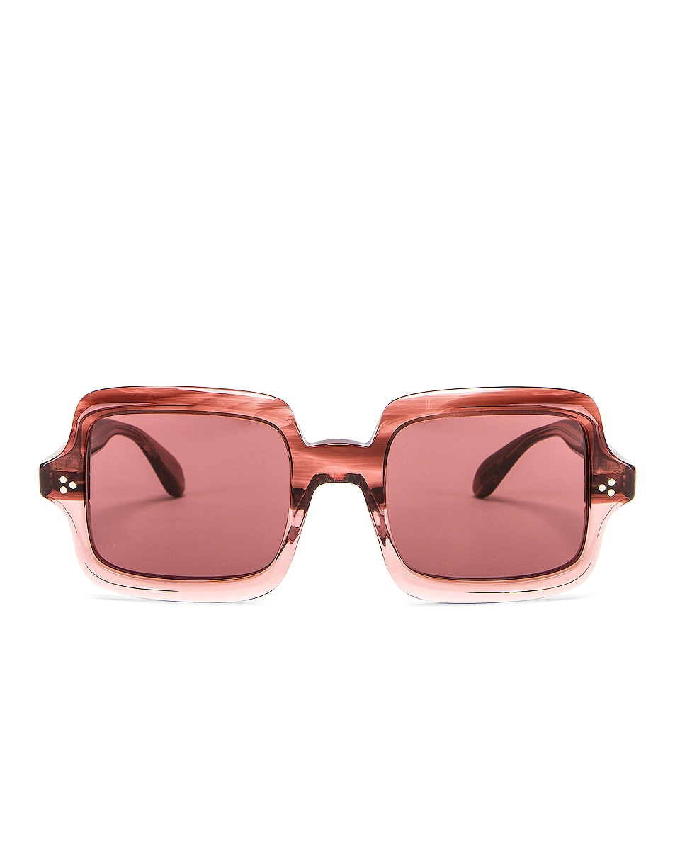 Image 1 of Oliver Peoples Aviri Square Sunglasses in Rose & Damson