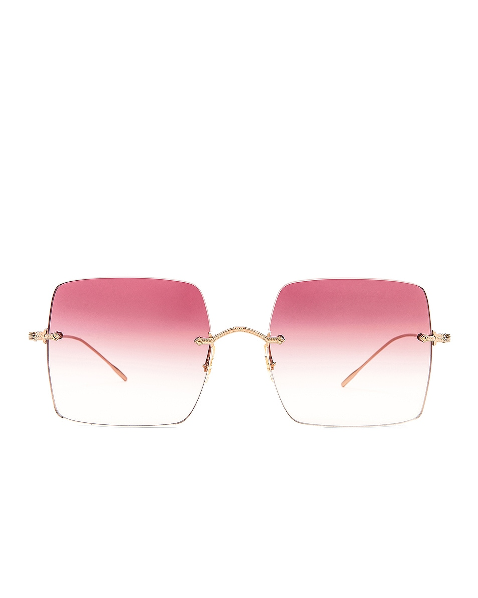 Image 1 of Oliver Peoples Oishe Sunglasses in Rose Gold & Magenta Gradient