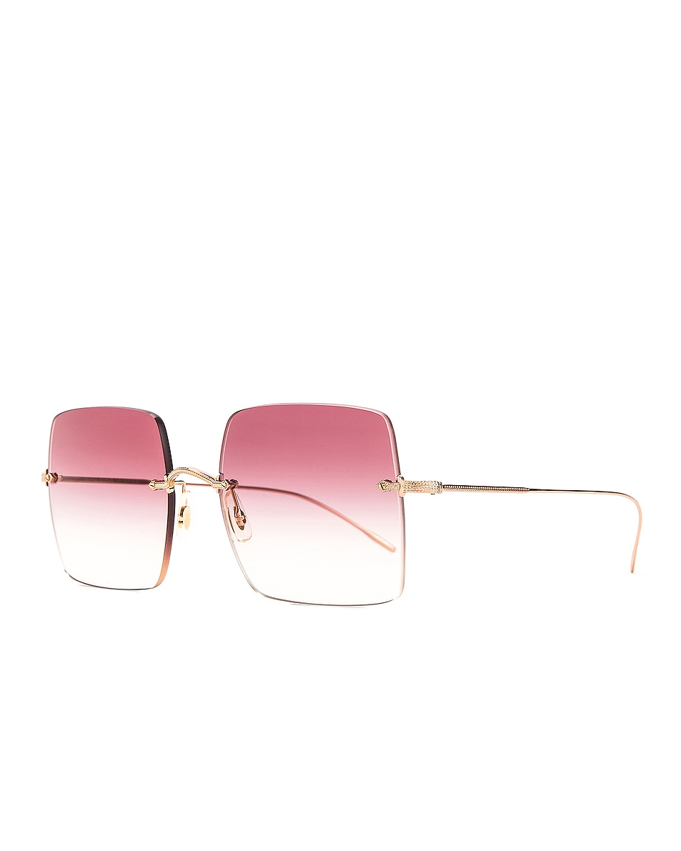 Image 2 of Oliver Peoples Oishe Sunglasses in Rose Gold & Magenta Gradient