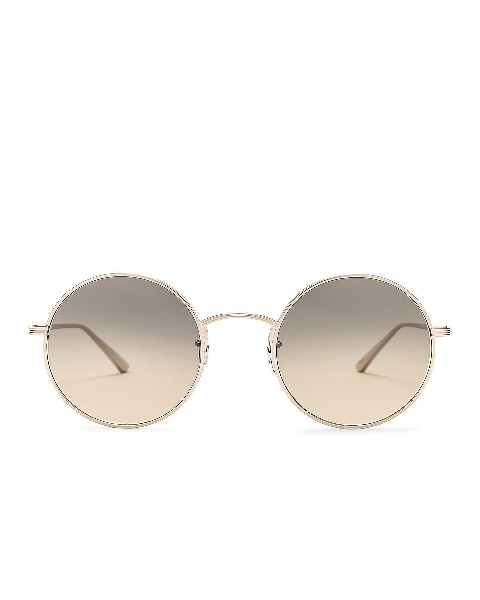 Image 1 of Oliver Peoples x The Row After Midnight Sunglasses in Silver & Shade Gradient