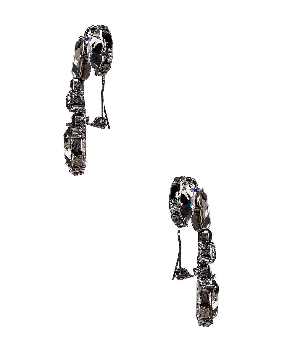 Image 3 of Oscar de la Renta Crystal Earrings in Black Diamond