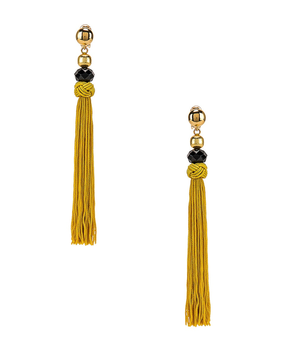 Image 1 of Oscar de la Renta Cord Tassel Earrings in Ginger