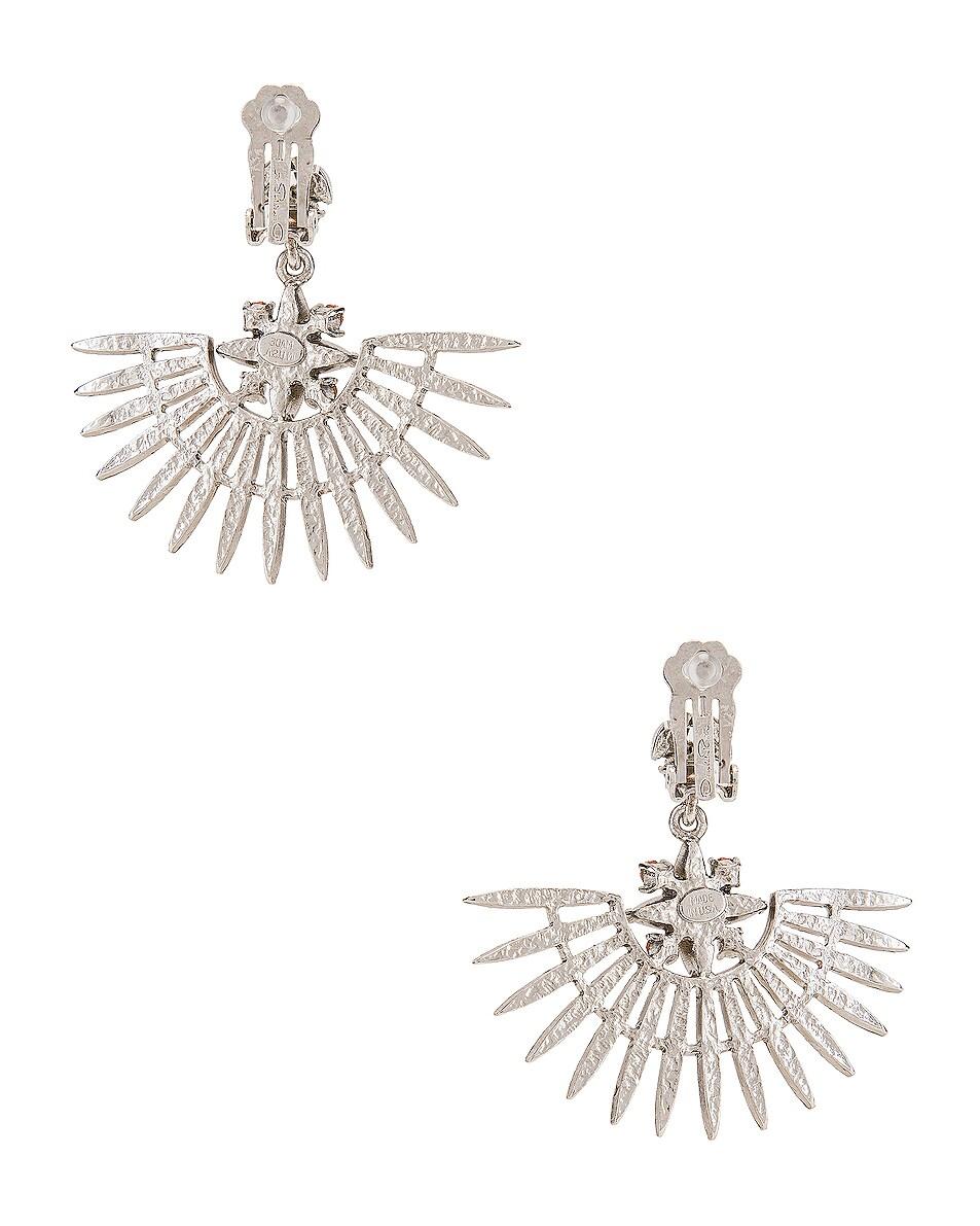 Image 4 of Oscar de la Renta Fan Earrings in Silk