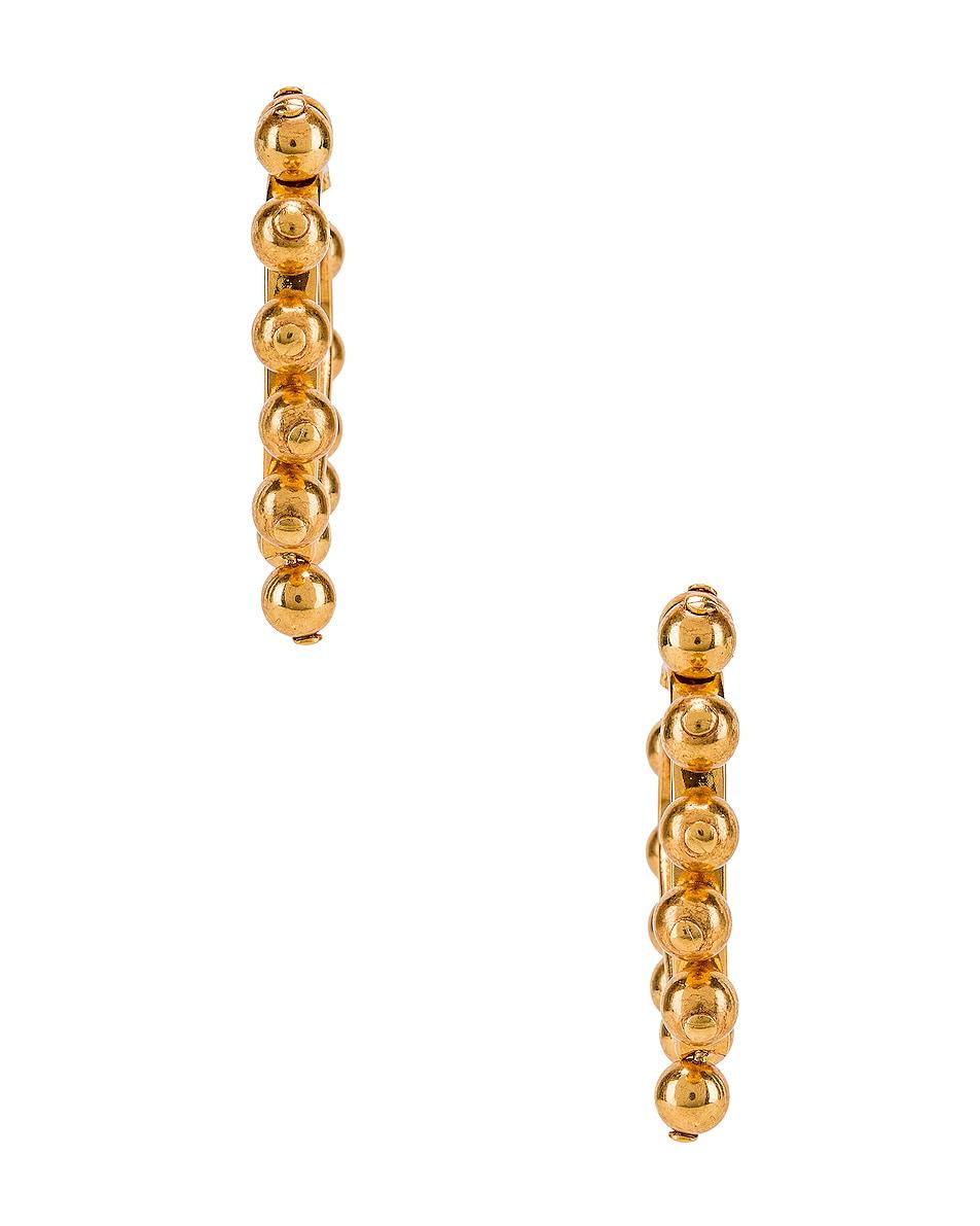 Image 3 of Oscar de la Renta Heart Earrings in Gold