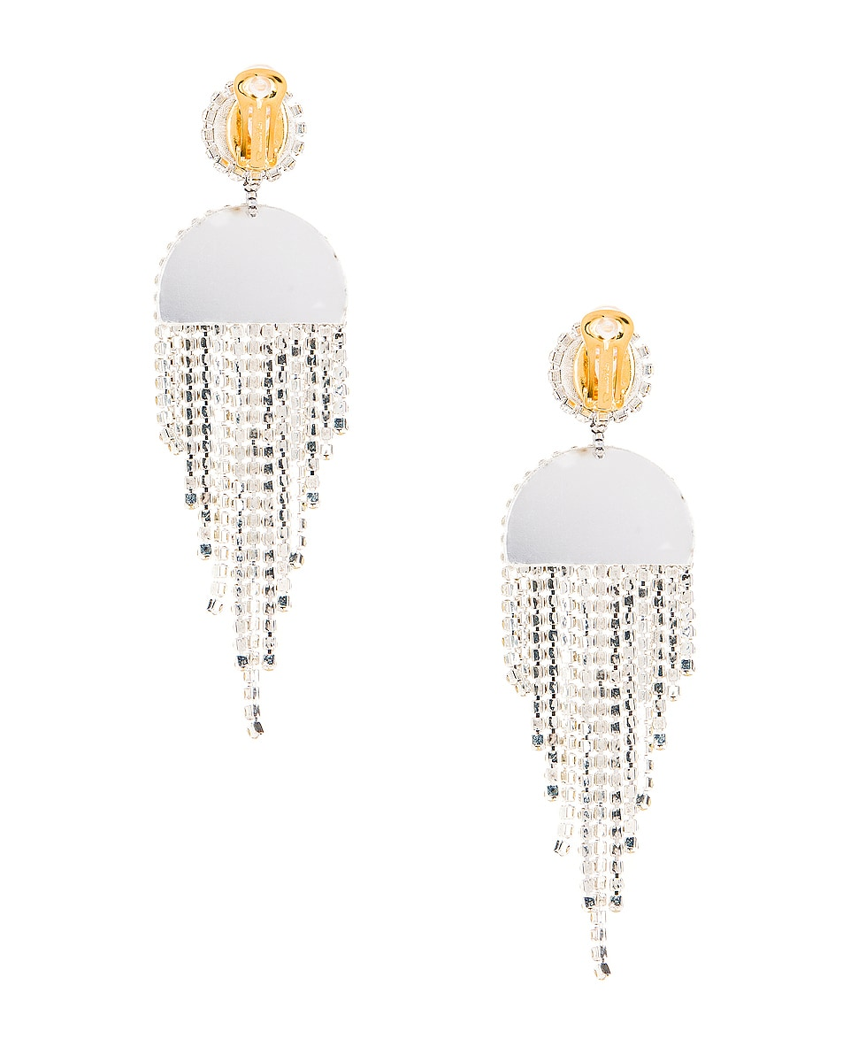 Image 4 of Oscar de la Renta Waterfall Earrings in Crystal