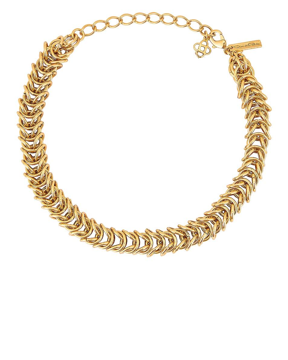 Image 1 of Oscar de la Renta Tubular Braid Necklace in Gold