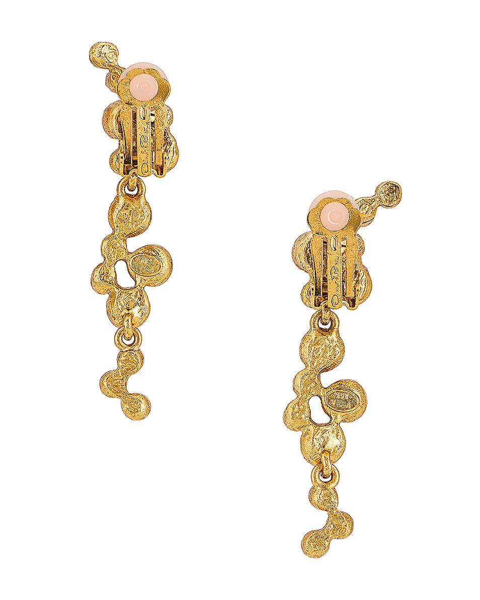 Image 4 of Oscar de la Renta Round Crystal Earrings in Pink