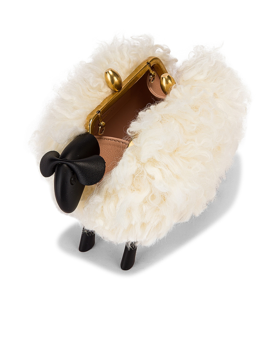 Image 4 of Oscar de la Renta Shearling Sheep Bag in Ivory
