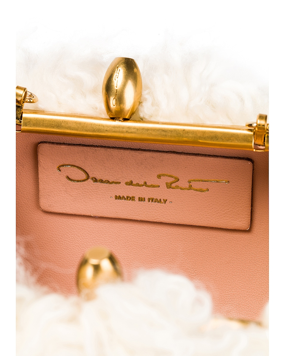 Image 6 of Oscar de la Renta Shearling Sheep Bag in Ivory