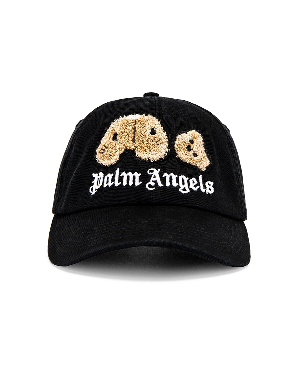 Image 1 of Palm Angels Kill The Bear Cap in Black & Brown