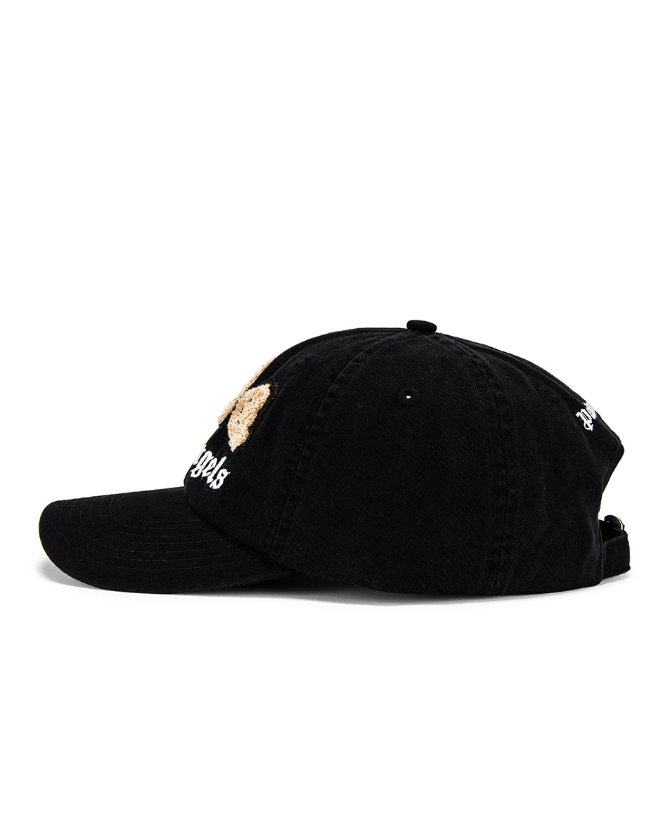 Image 3 of Palm Angels Kill The Bear Cap in Black & Brown