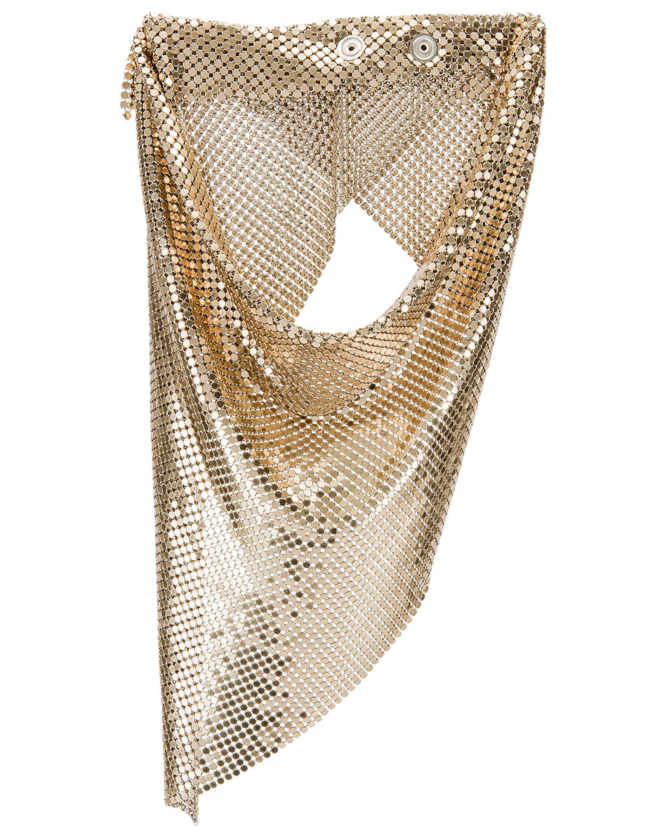 Image 1 of PACO RABANNE Triangle Scarf in Light Gold