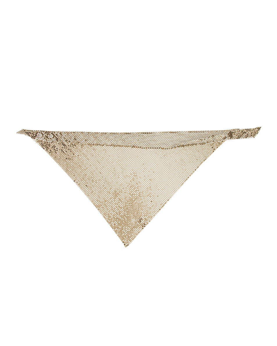 Image 2 of PACO RABANNE Triangle Scarf in Light Gold