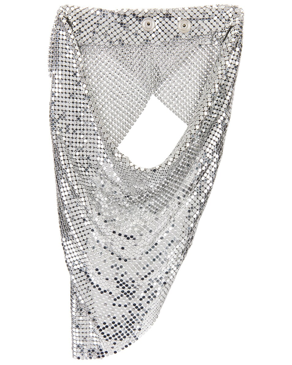 Image 1 of PACO RABANNE Triangle Scarf in Silver