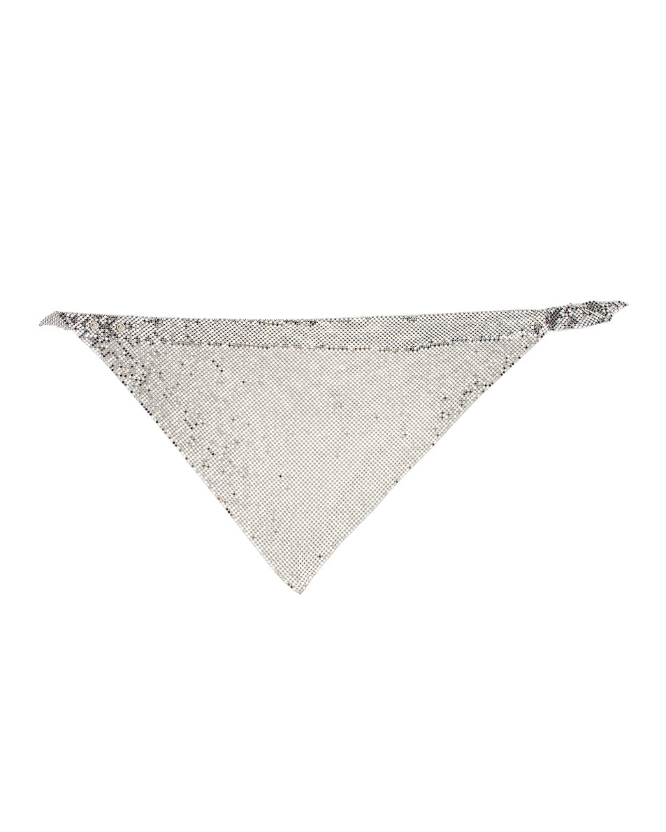Image 2 of PACO RABANNE Triangle Scarf in Silver