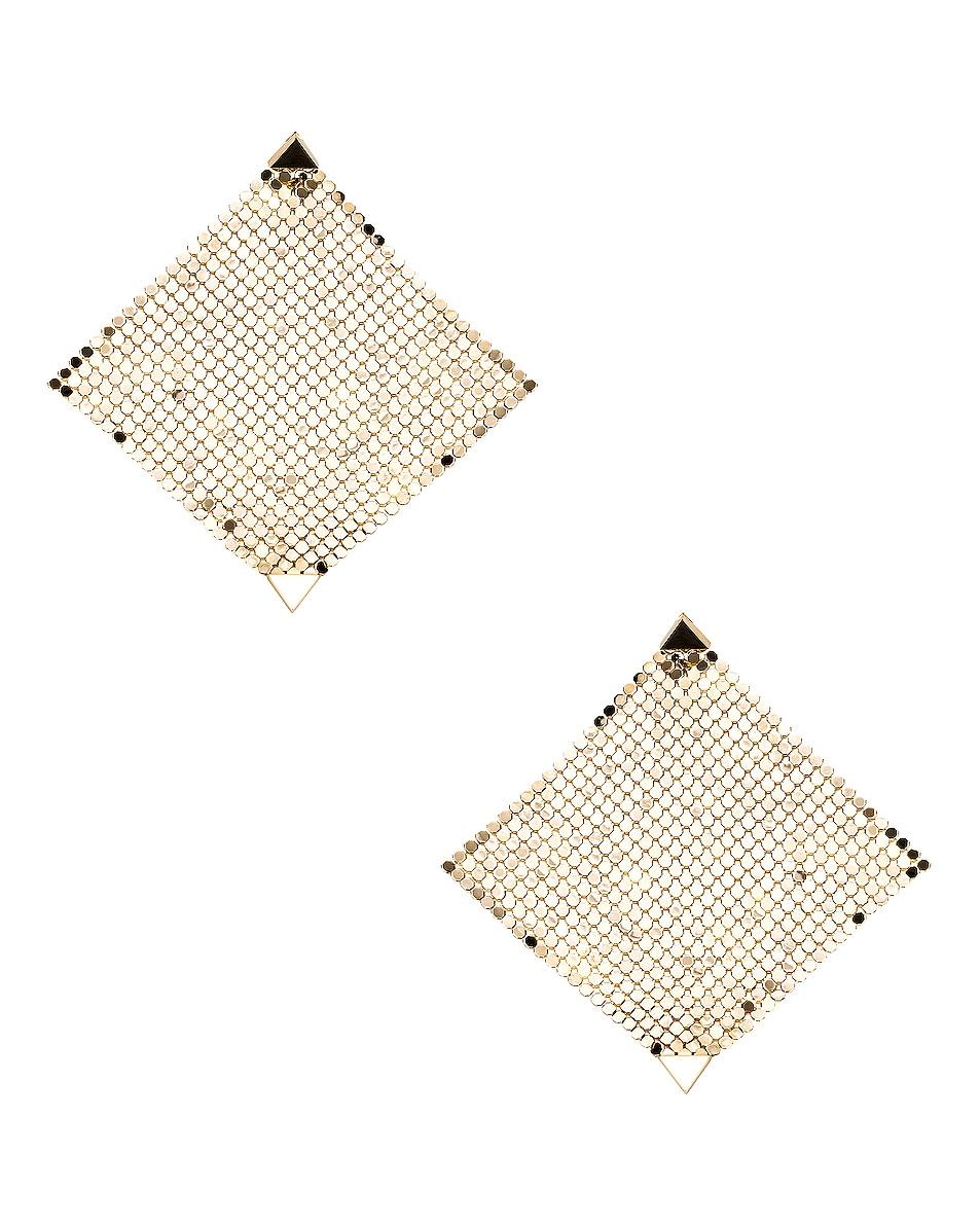 Image 1 of PACO RABANNE Fold Earrings in Light Gold