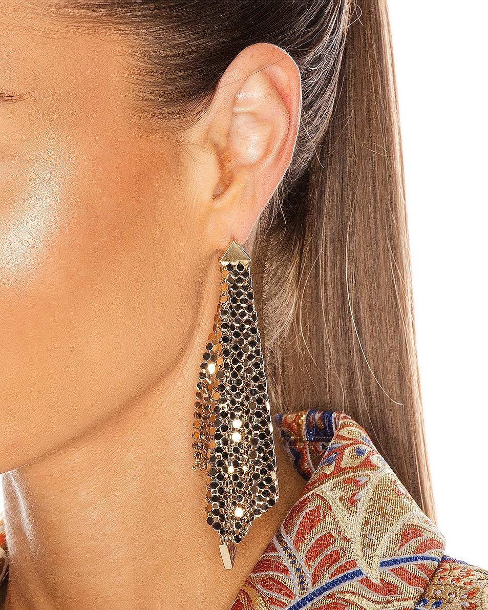 Image 2 of PACO RABANNE Fold Earrings in Light Gold