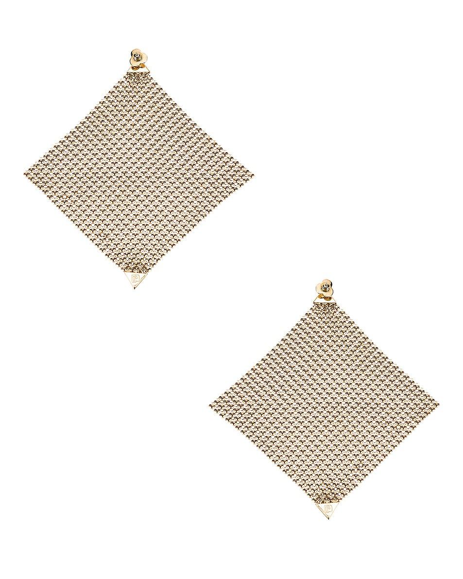 Image 4 of PACO RABANNE Fold Earrings in Light Gold