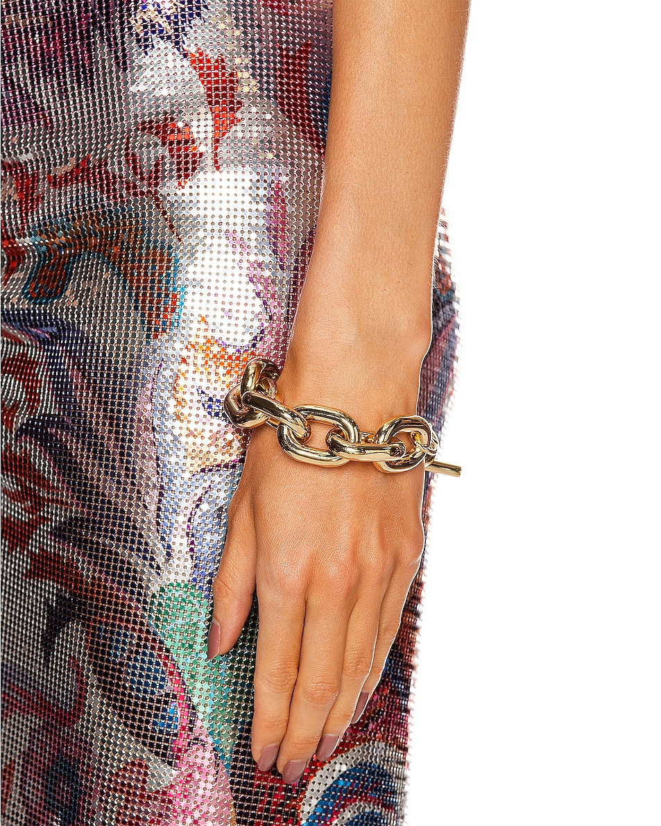 Image 2 of PACO RABANNE Large Chain Bracelet in Gold