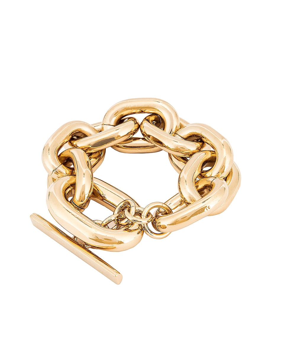 Image 3 of PACO RABANNE Large Chain Bracelet in Gold