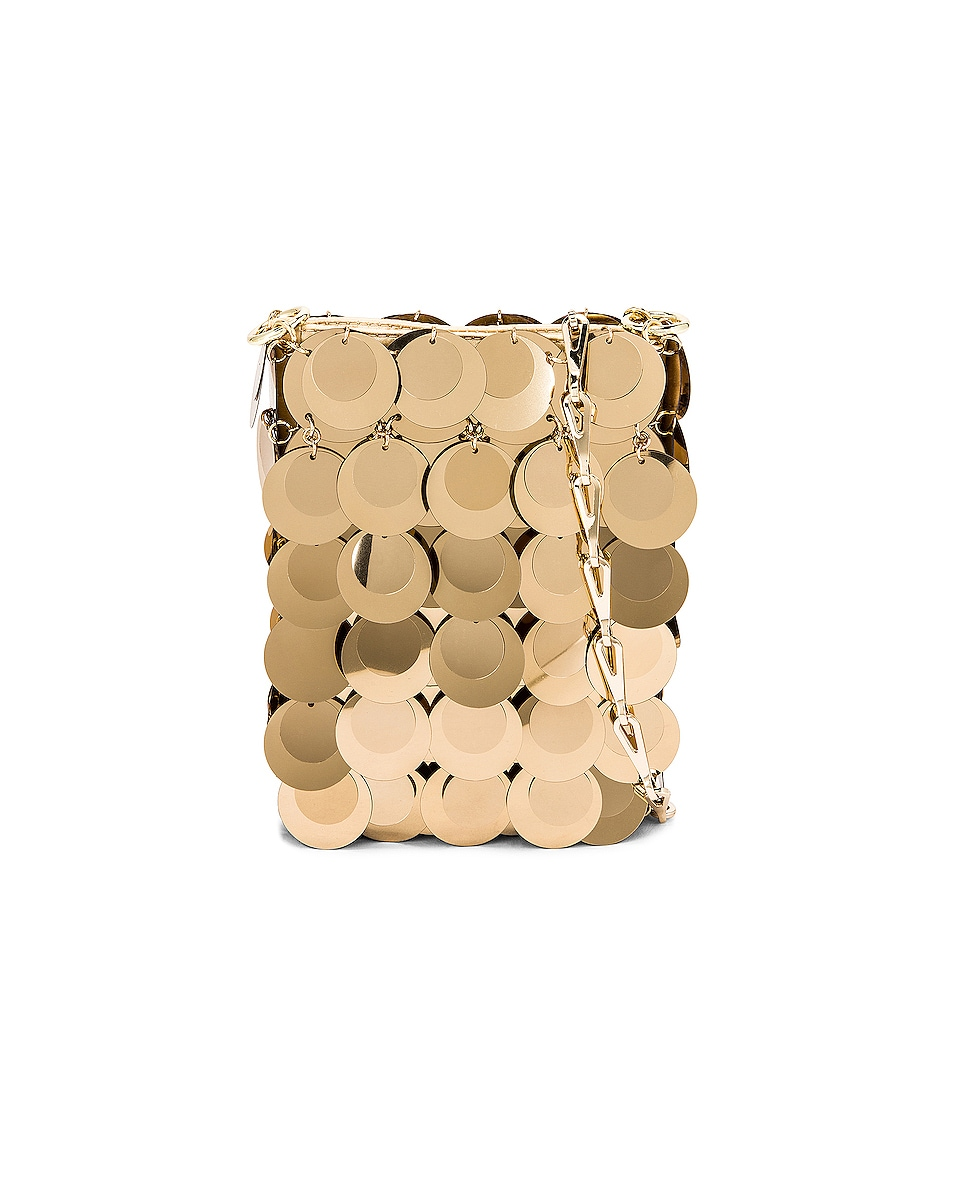 Image 1 of PACO RABANNE Sparkle Mini 69 Bag in Light Gold