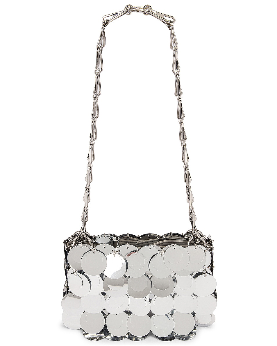 Image 1 of PACO RABANNE Sparkle Nano 69 Sequin Bag in Silver