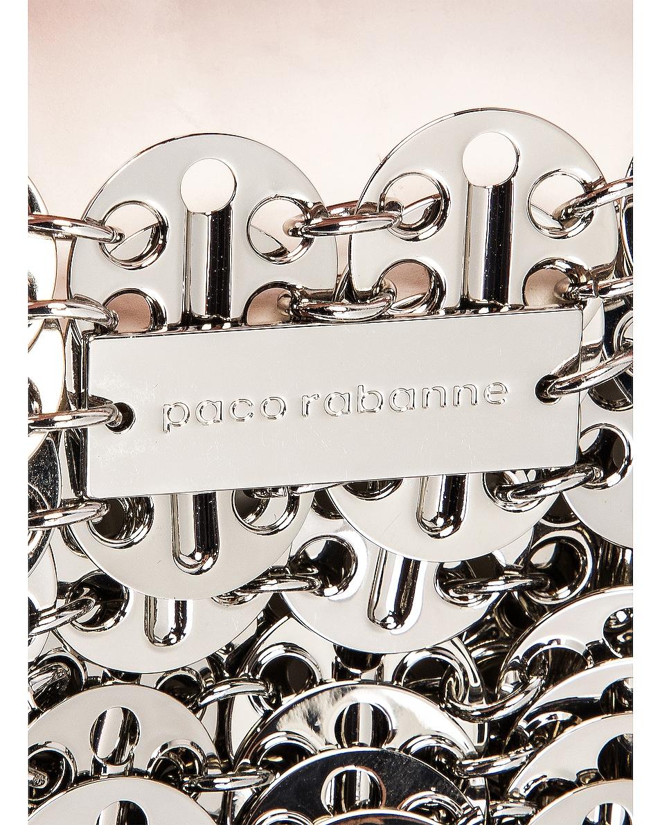 Image 6 of PACO RABANNE Nano 69 Metallic Disc Bag in Silver