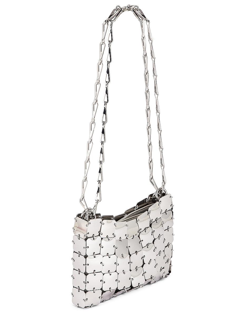 Image 4 of PACO RABANNE Square Nano 69 Bag in Silver