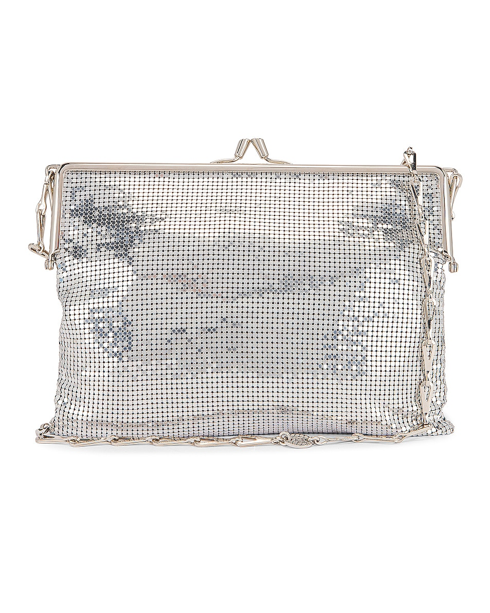 Image 1 of PACO RABANNE Pixel Frame Bag in Silver