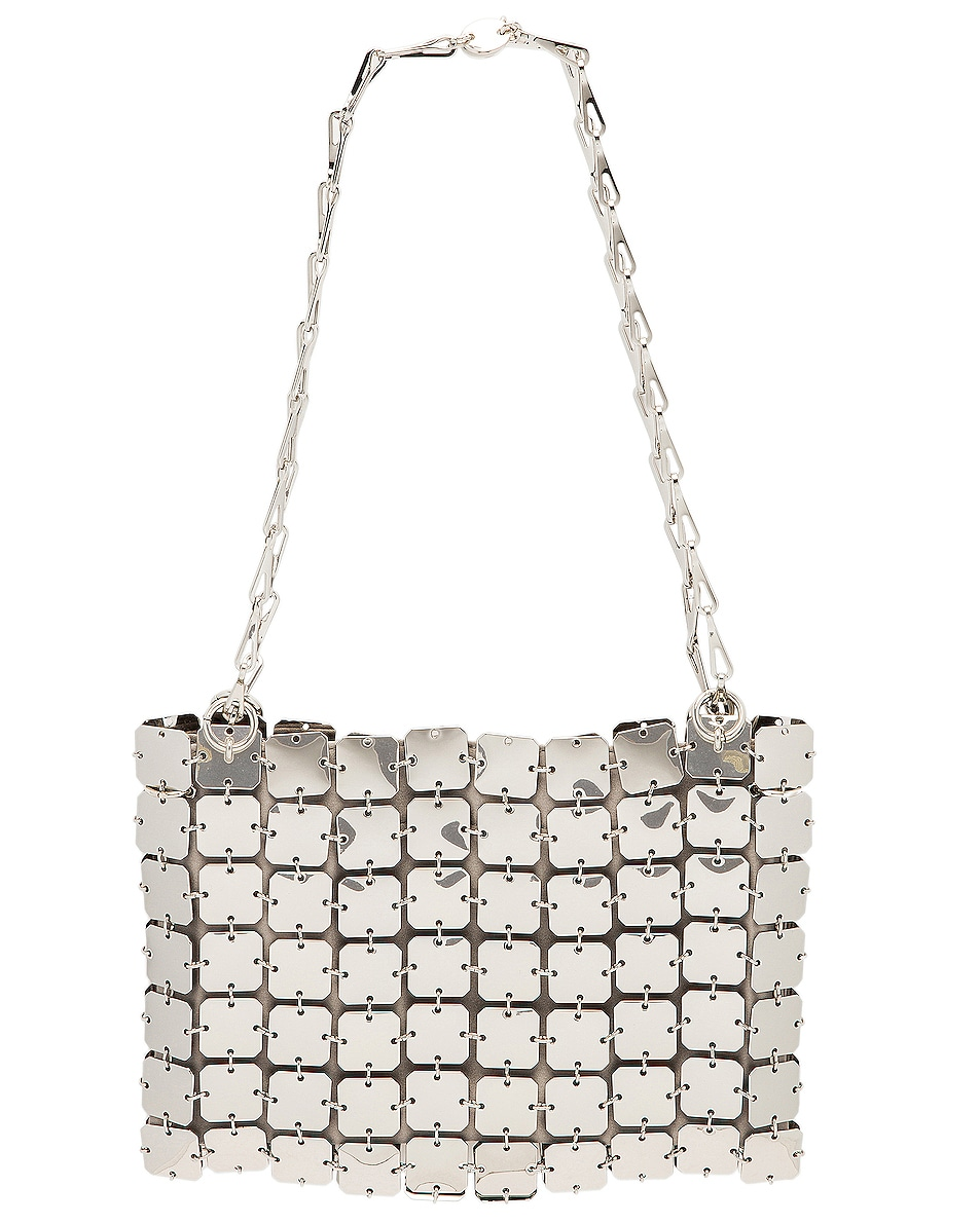 Image 1 of PACO RABANNE Iconic Square 1969 Bag in Silver