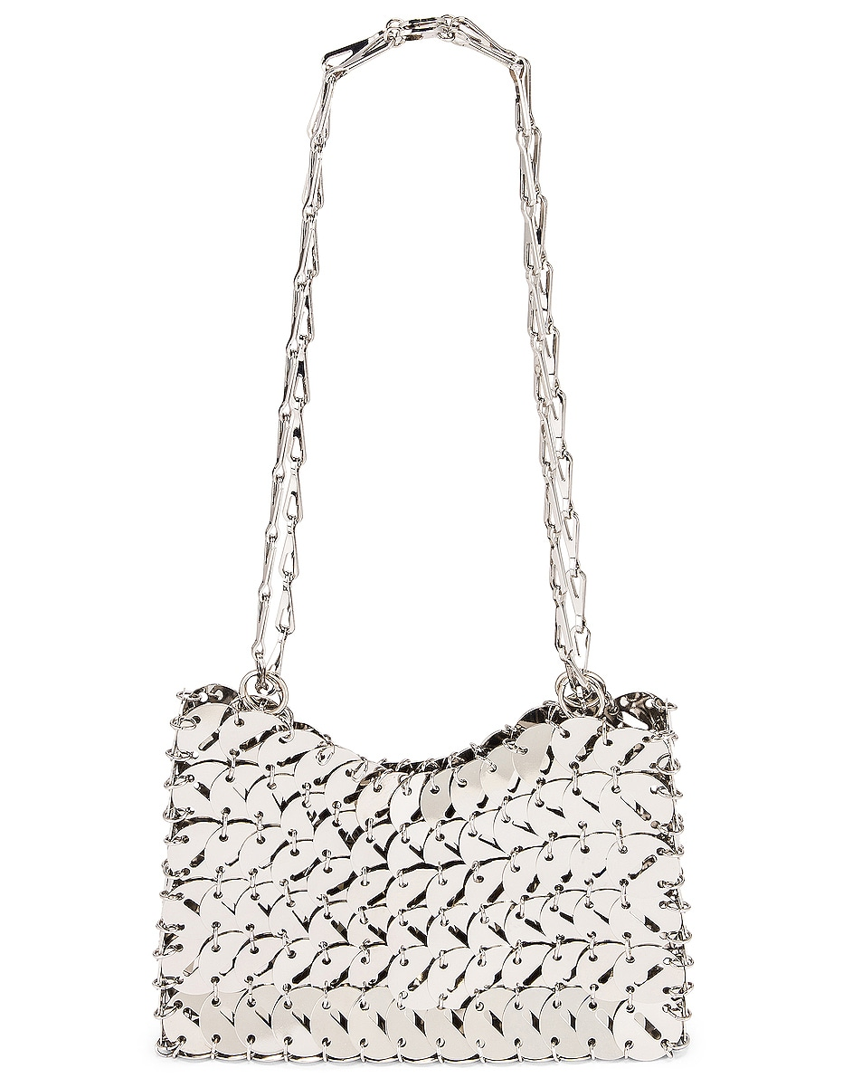 Image 1 of PACO RABANNE Perforated Disc 1969 Bag in Silver